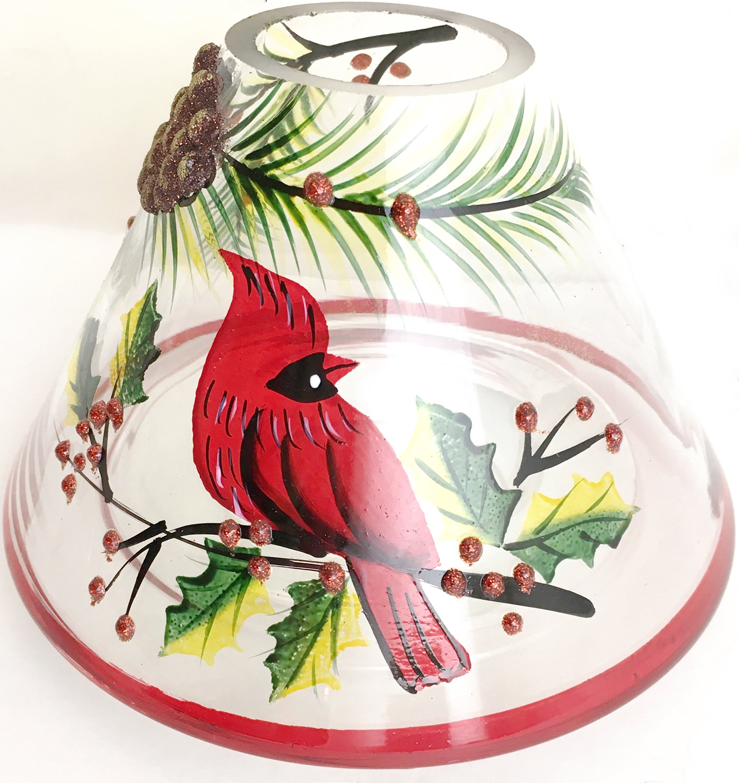 Biedermann & Sons Handpainted Jar Shades, Cardinal Scene, 4-Count by Biedermann & Sons (Image #2)