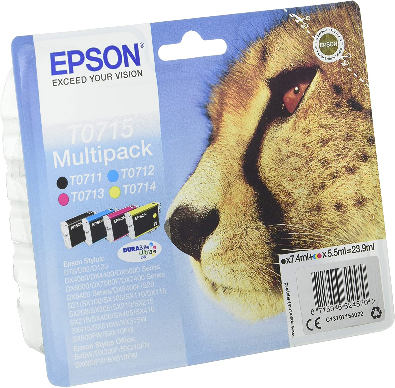 Epson C13t07154022 Original Tintenpatronen Pack Of 4 Bürobedarf Schreibwaren