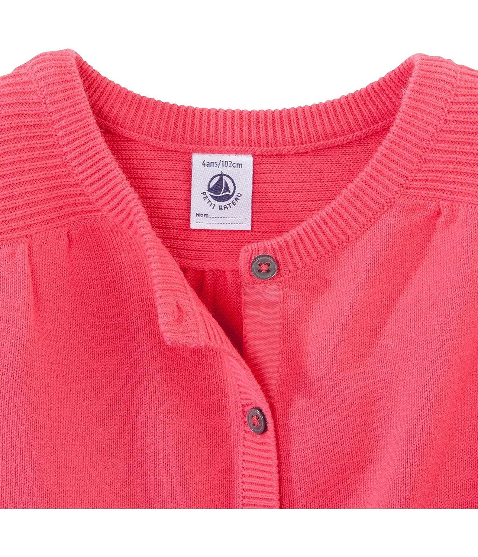 Petit Bateau Girls Knit Sweater 8 Years Bright Pink