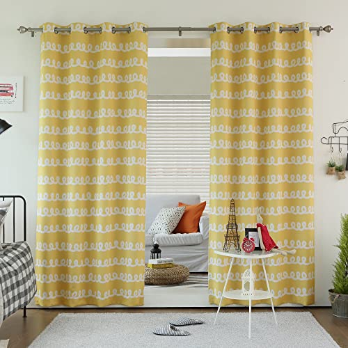 Best Home Fashion Doodle Room Darkening Curtain