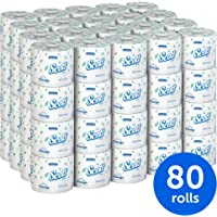 80-Pack Scott Essential Individually Wrapped Standard Rolls Professional Bulk Toilet Paper