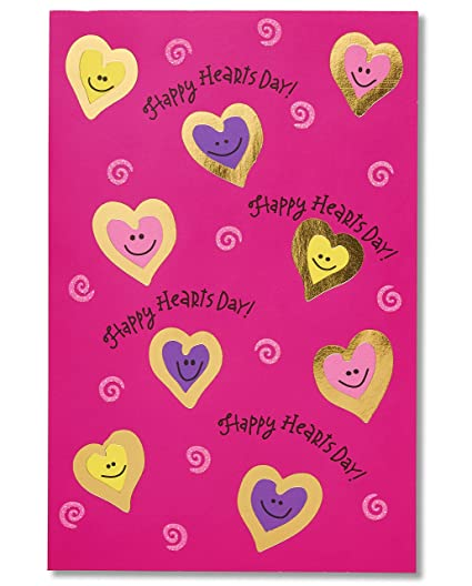 Amazon american greetings happy hearts day valentines day american greetings happy hearts day valentines day cards with foil 6 count m4hsunfo