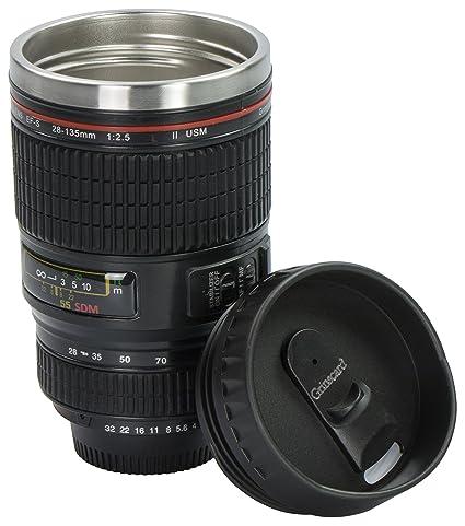 c7a84ef8da Grinscard Taza de café Drink & Go - Diseño cámara Digital 0,35 l ...