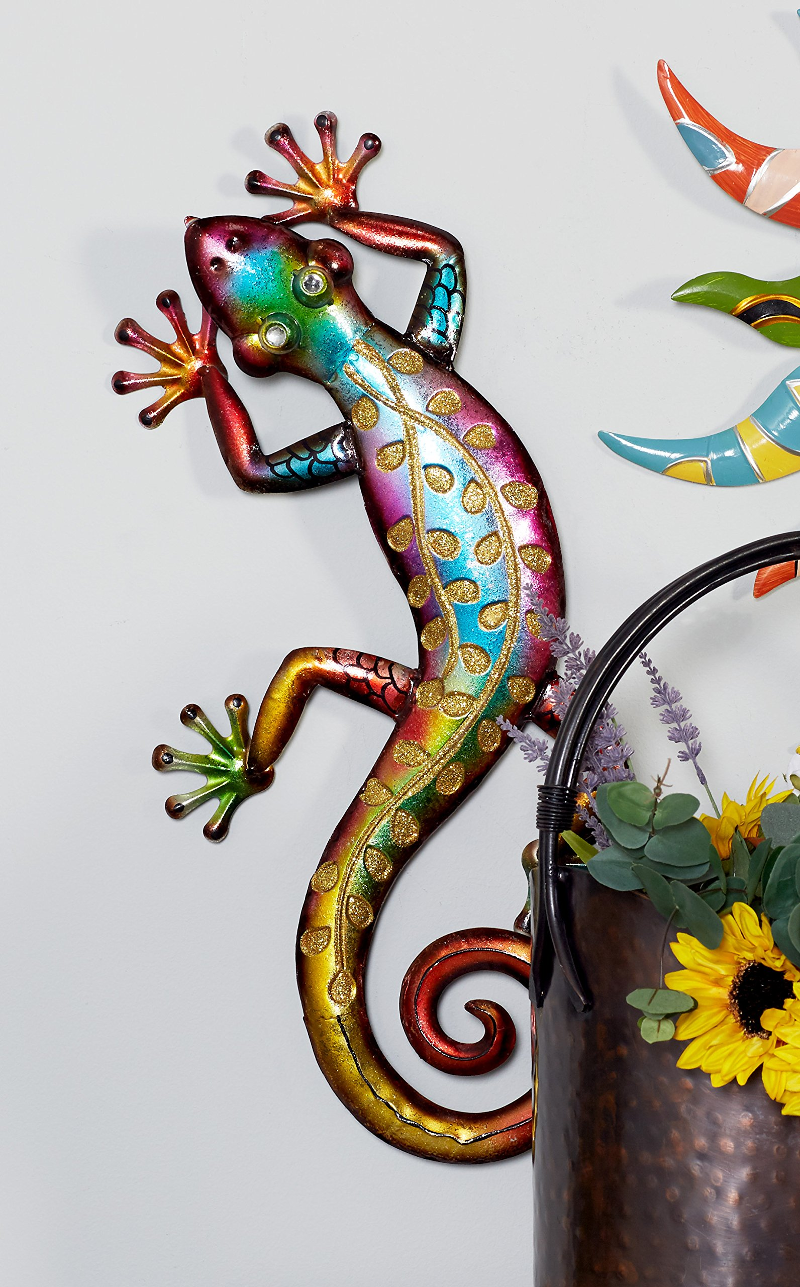 Deco 79 Metal Wall Lizard 10 Inch By 25 Inch Good Deals
