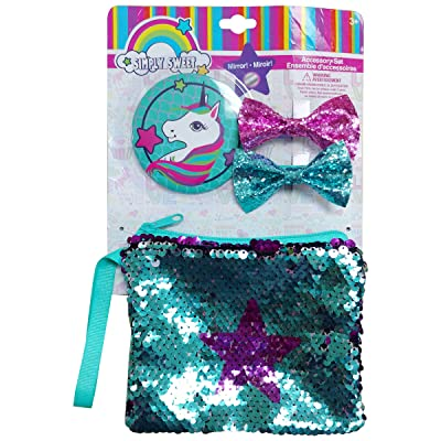 Danawares Unicorn Sequin Purse with Mirrow & Bows: Toys & Games