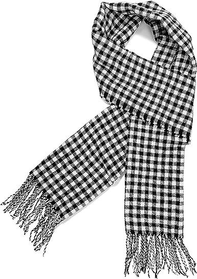 Bohemian Stripe Geometric Cashmere Feel Scarves with Tassels for Men Women