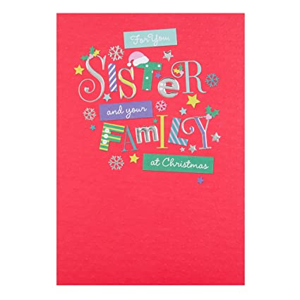 hallmark sister and family christmas card great new year medium