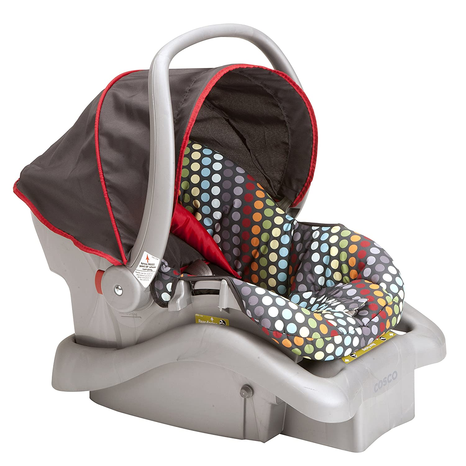 Amazon.com : Cosco Light N Comfy Dx, Rainbow Dots : Baby