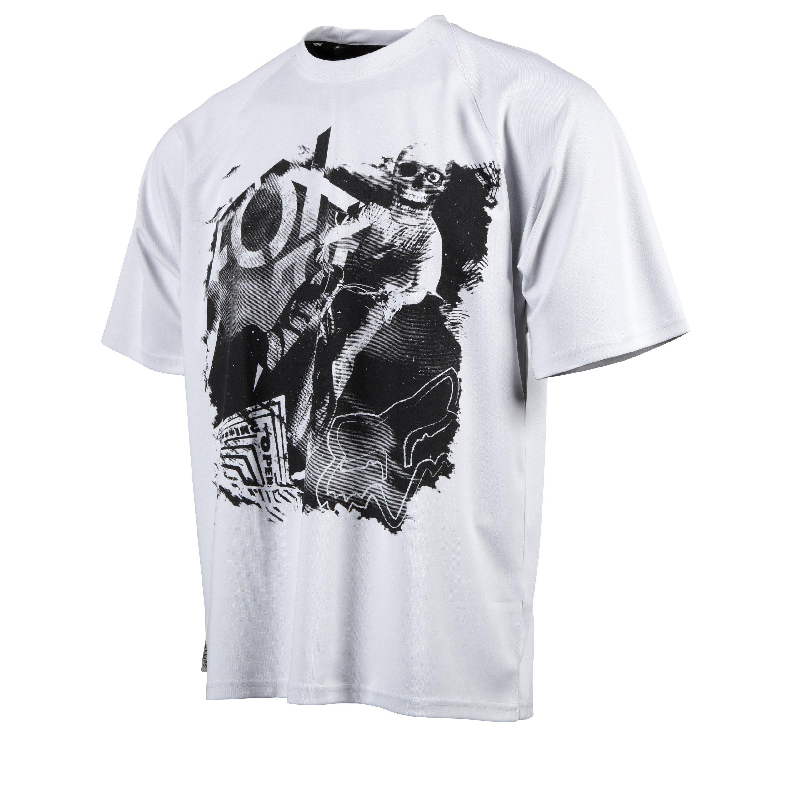 Fox Men's WFO Dirt Short Sleeve Shirt Jersey,White,Medium