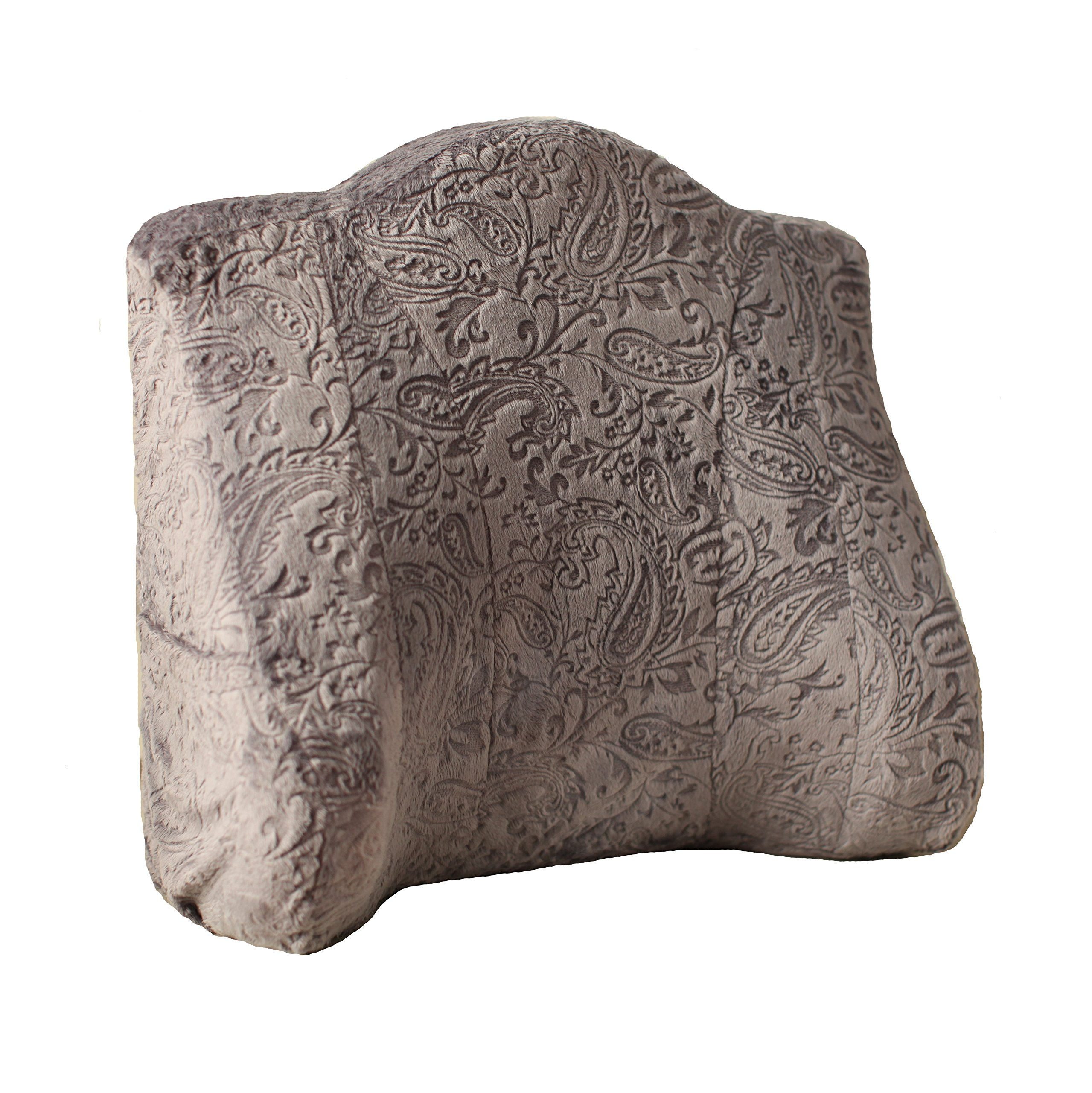 Back Buddy Support Pillow, Emerson (Charcoal Paisley Minky)