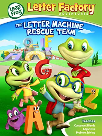 leapfrog letter factory adventures the letter machine rescue team dvd