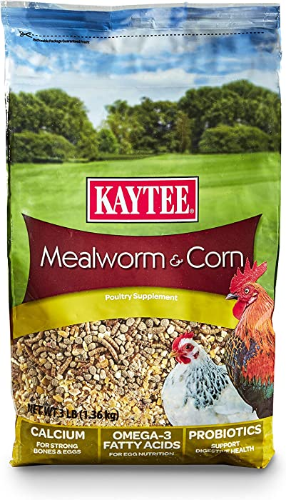 Kaytee Mealworms And Corn Treat, 3 Pound