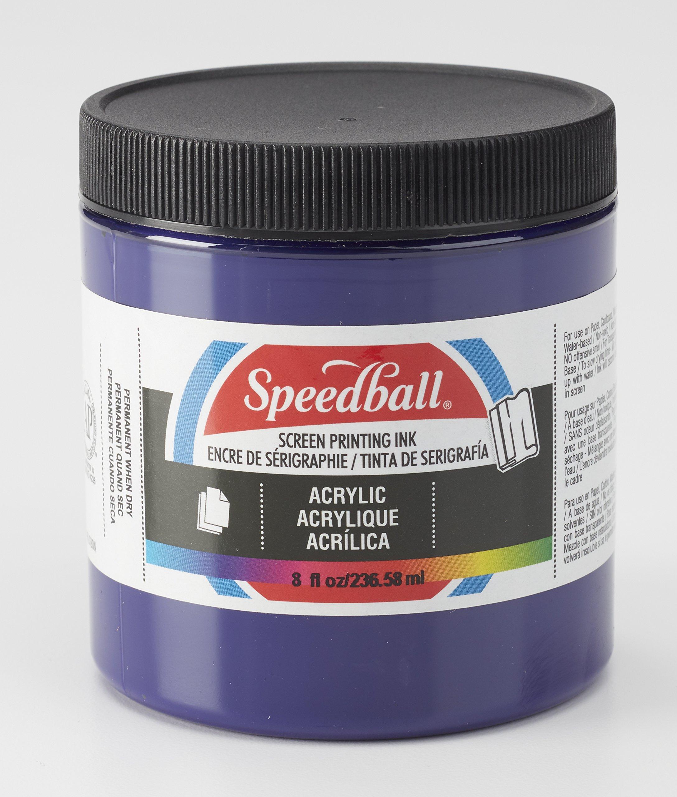 Speedball 004630 Acrylic Screen Printing Ink, 237ml, 8 Fl. oz, Violet
