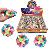 Liberty Imports Set of 12 Bouncy Fidget Balls | Stress Relief Rainbow Rubber Balls Squeeze Toys | Ideal for Kids and Adults Party Favors (6 Colors)