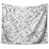 """KESS InHouse Will Wild """"Marble"""" White Gray Wall Tapestry, 51"""" X 60"""""""""""