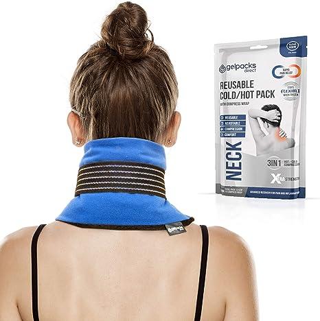 GelpacksDirect Bolsa de gel para aplicar frío y calor - Con banda de compresión y elástico para el cuello: Amazon.es: Salud y cuidado personal