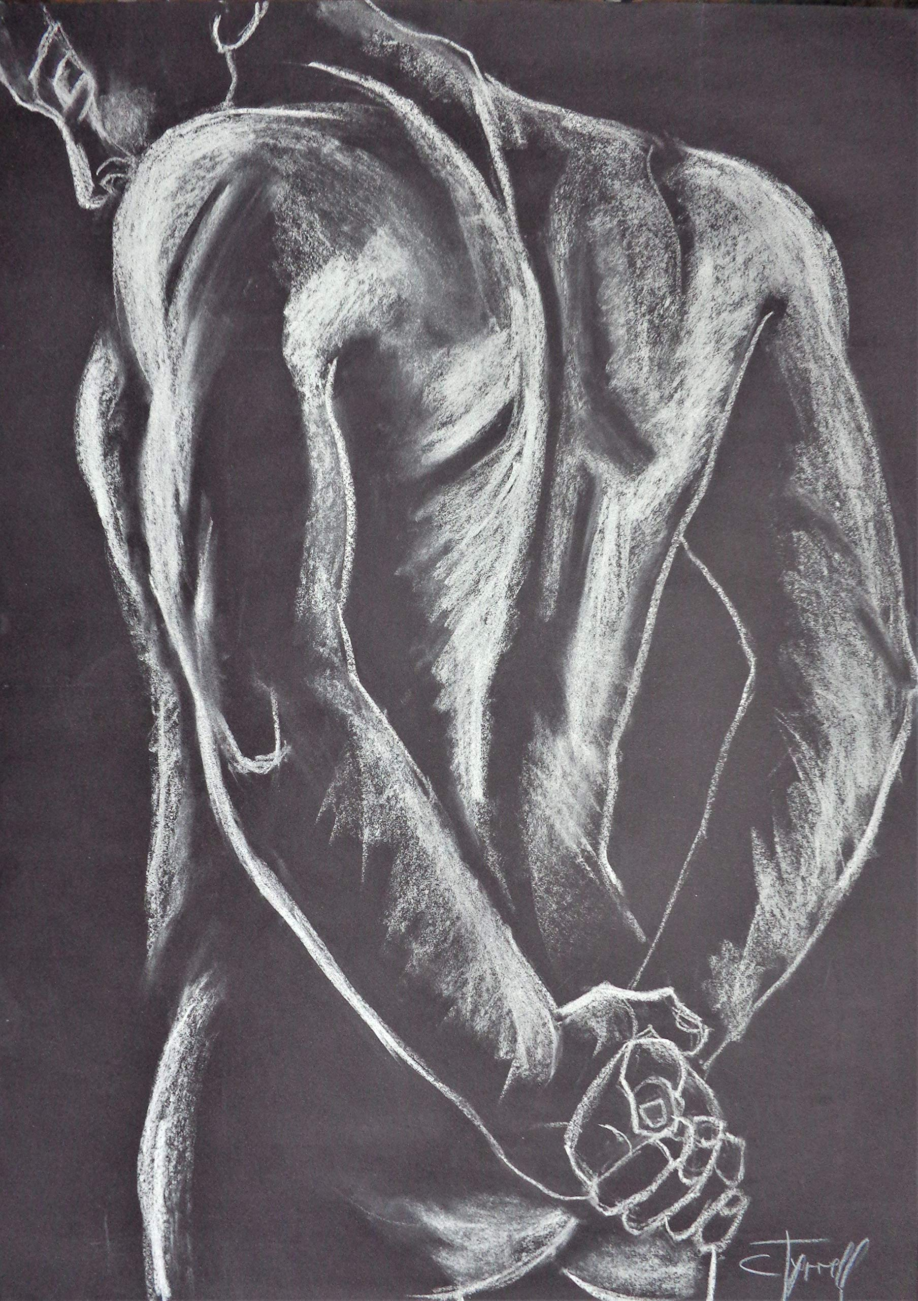 Man Nude Figure 1 by