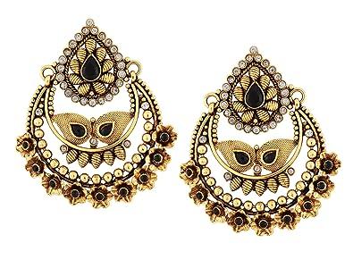 Ramleela Bollywood Style Indian Jewellery Chandelier Jhumka Dangle ...