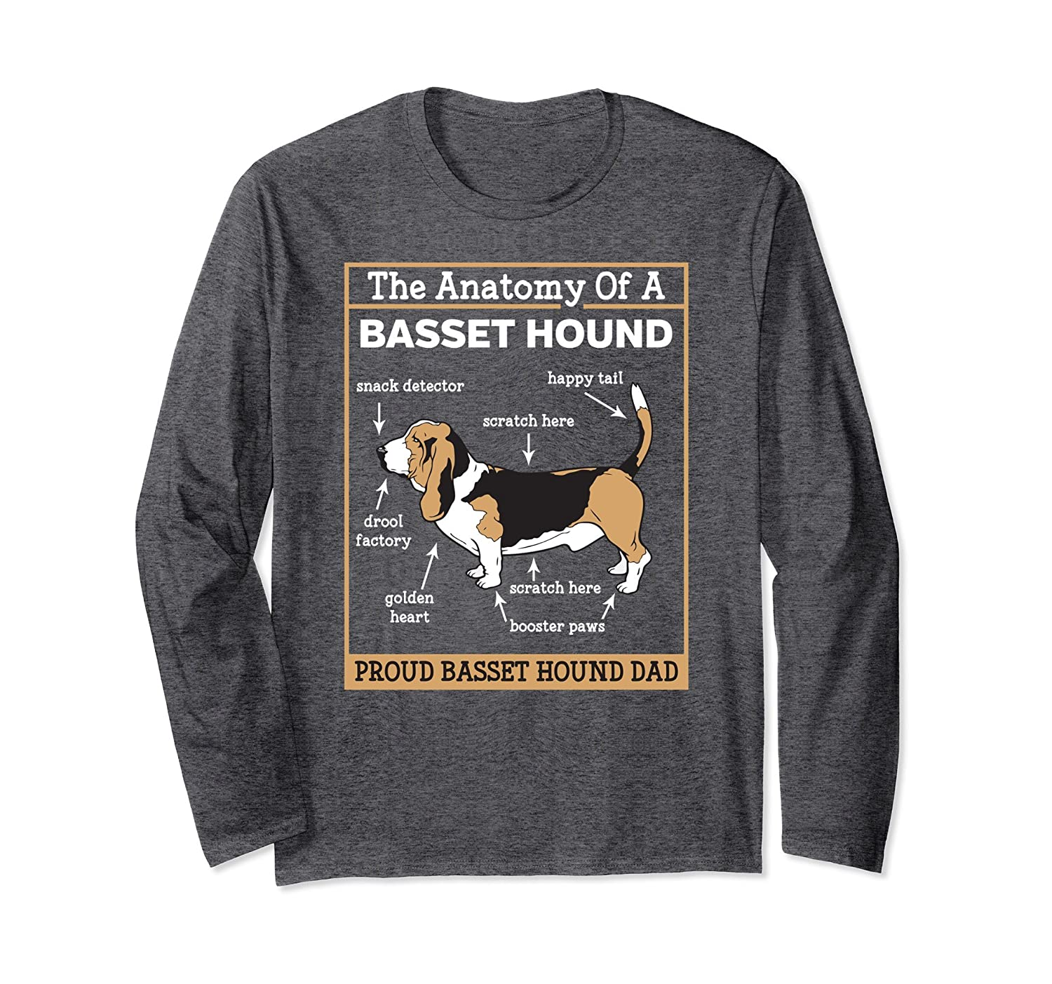 Amazon.com: Anatomy of A Basset Hound Shirt For Fathers Day: Clothing