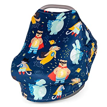 Multi-use Breastfeeding Cover Up High Chair Stroller Carseat Covers for Boy Girl