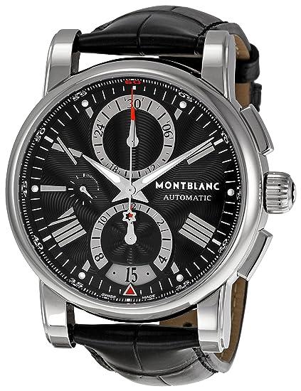 Montblanc 102377 - Reloj de Pulsera Hombre, Color Negro ...