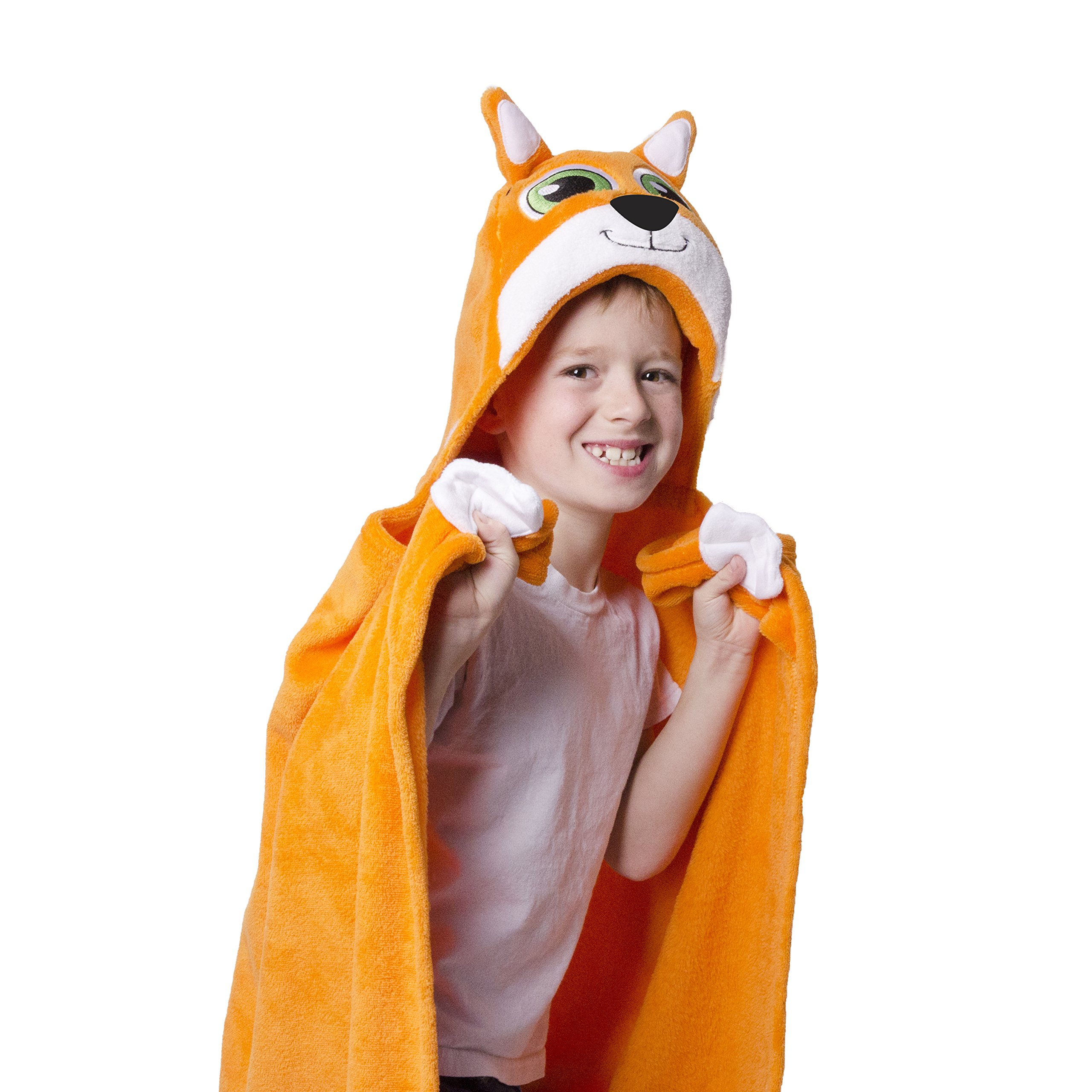 CDM product Comfy Critters Stuffed Animal Blanket Kids Huggable Pillow and Blanket Perfect for Pretend Play, Travel, Nap time. (Fox) small thumbnail image