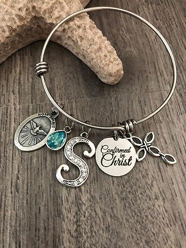 Amazon.com: CONFIRMATION GIFT, Girls Confirmation Bracelet, Girls Confirmation Jewelry, Religious Bracelet, Christian Catholic Jewelry, Sponsor gift: ...