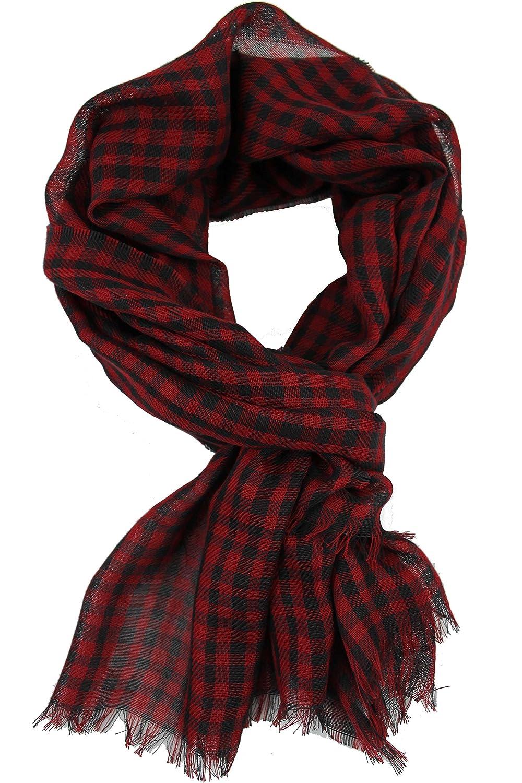 Rotfuchs Sciarpa scialle tessuta trendy rosso nero 100/% cotone R-574