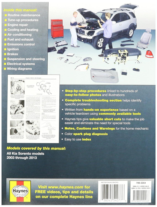 Amazon.com: Haynes Repair Manuals Kia Sorento 2003-2013 (54077): Automotive