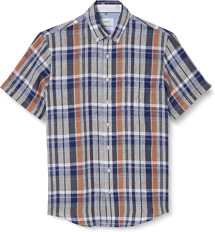 BRAX Drake Airwashed Linen Camisa para Hombre: Amazon.es: Ropa y accesorios
