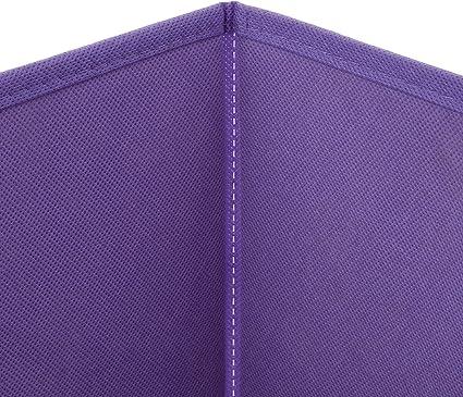 Violett Homelife Faltbarer Aufbewahrungskorb f/ür M/ädchen 6 St/ück
