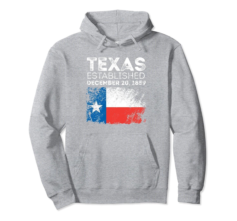 Texas TX Flag Established Home State Hoodie Texan-Colonhue