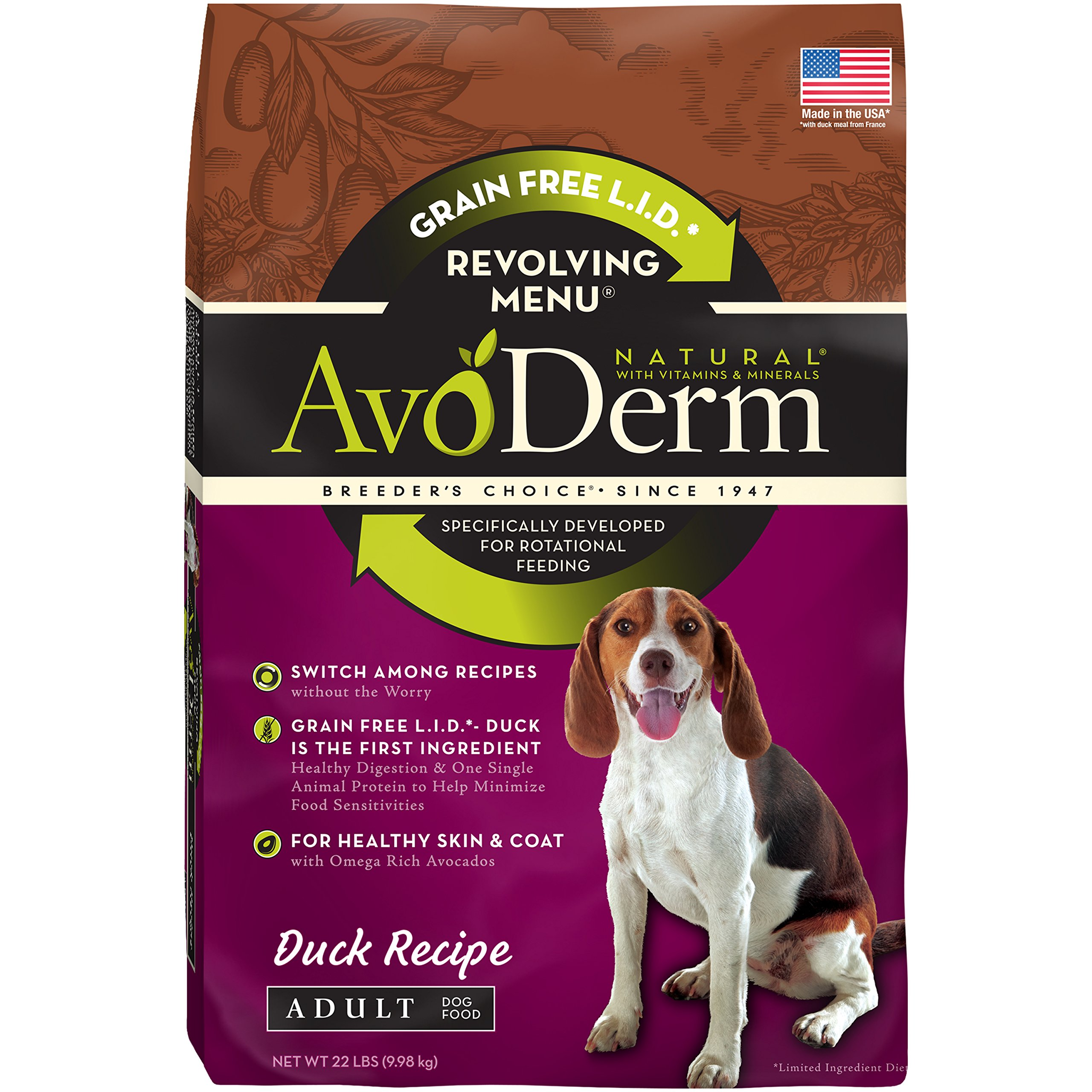 AvoDerm Natural Revolving Menu Dry & Wet Dog Food For Rotational Feeding, Food Intolerance and Sensitivities by AvoDerm