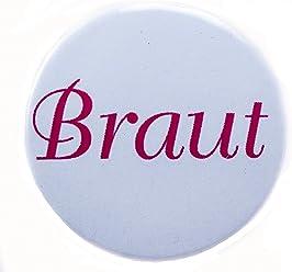 AnneSvea Button - Braut Hochzeit JGA pink 3,8 cm