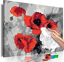 Malen nach Zahlen Muffins 60x30 cm 3 TLG Malset mit Holzrahmen auf Leinwand f/ür Erwachsene Kinder Gem/älde Handgemalt Kit DIY Geschenk Dekoration n-A-0217-d-e murando
