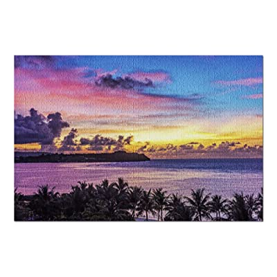 Guam - Gorgeous Sunset View of Tumon Bay 9033292 (Premium 1000 Piece Jigsaw Puzzle for Adults, 20x30, Made in USA!): Toys & Games