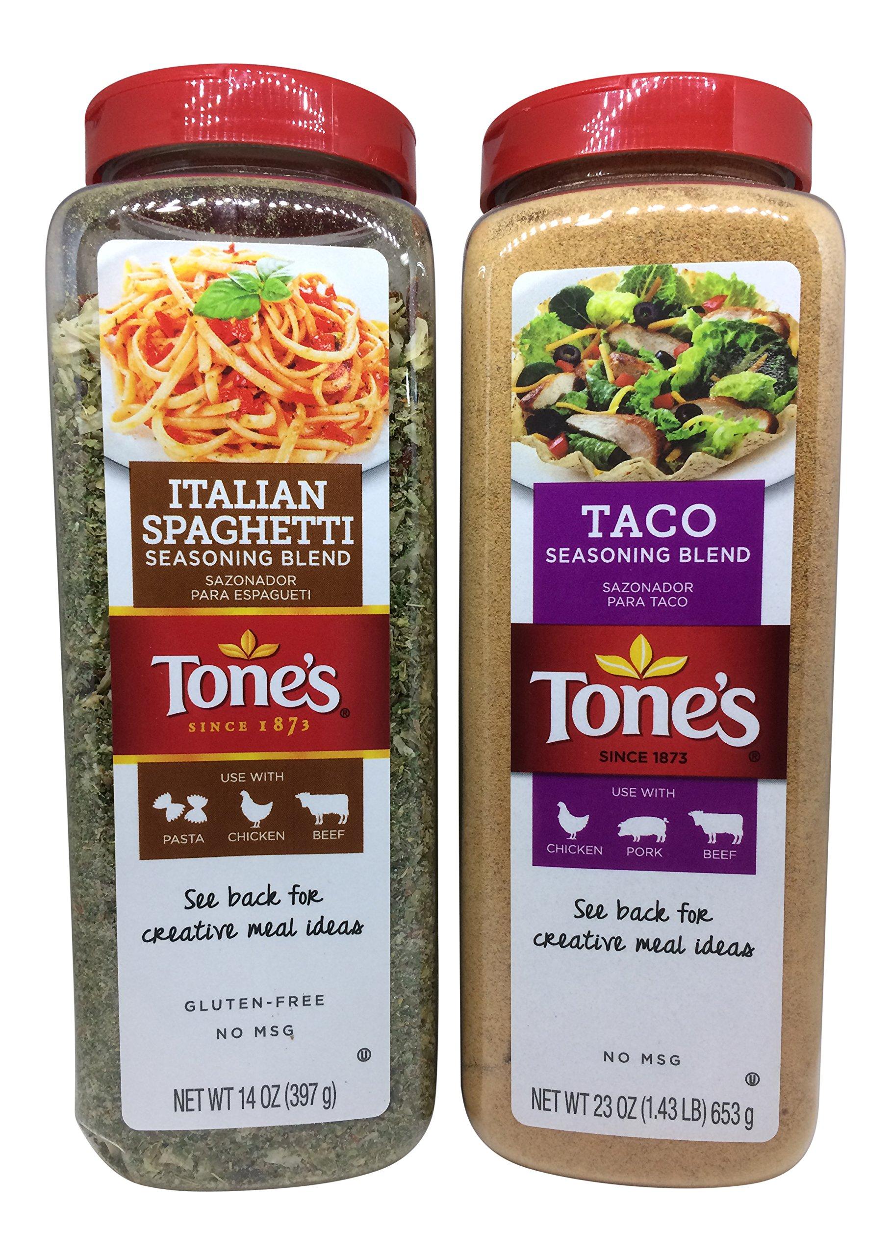 Tones Italian Spaghetti and Taco Seasoning Combo