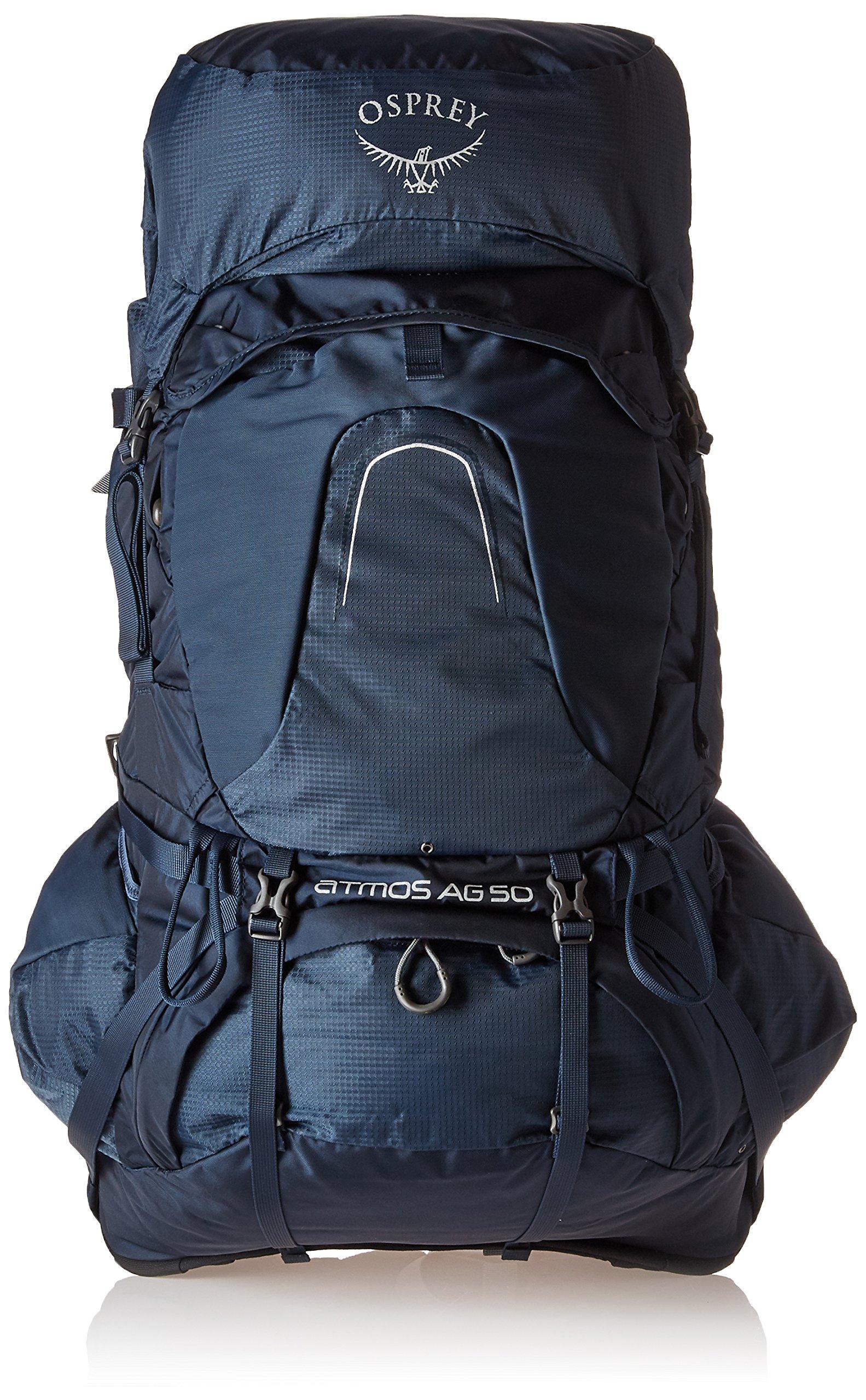 Osprey Packs Atmos Ag 50 Backpacking Pack, Unity Blue, Medium