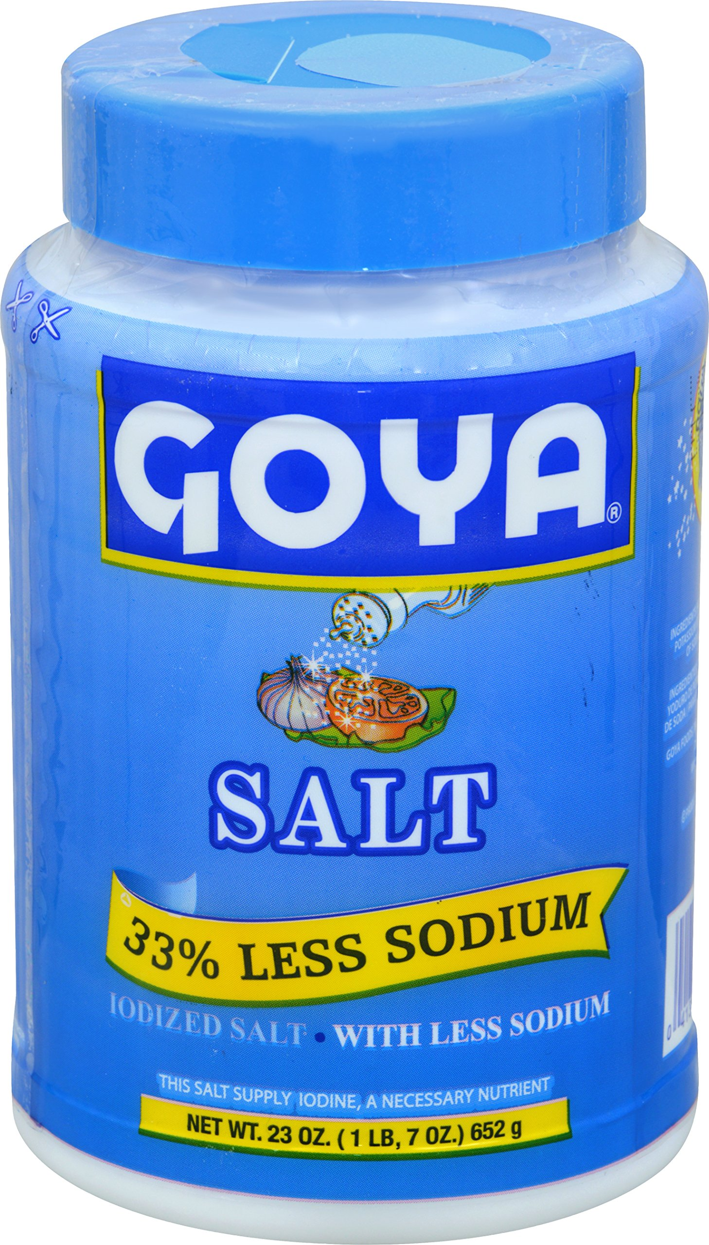 Goya Foods Salt 33% Less Sodium, 23 Ounce (Pack of 12)
