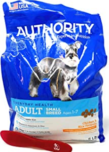 Authority Adult Small Breed Dry Dog Food (Chicken and Rice) 6lbs and Especiales Cosas Mixing Spatula