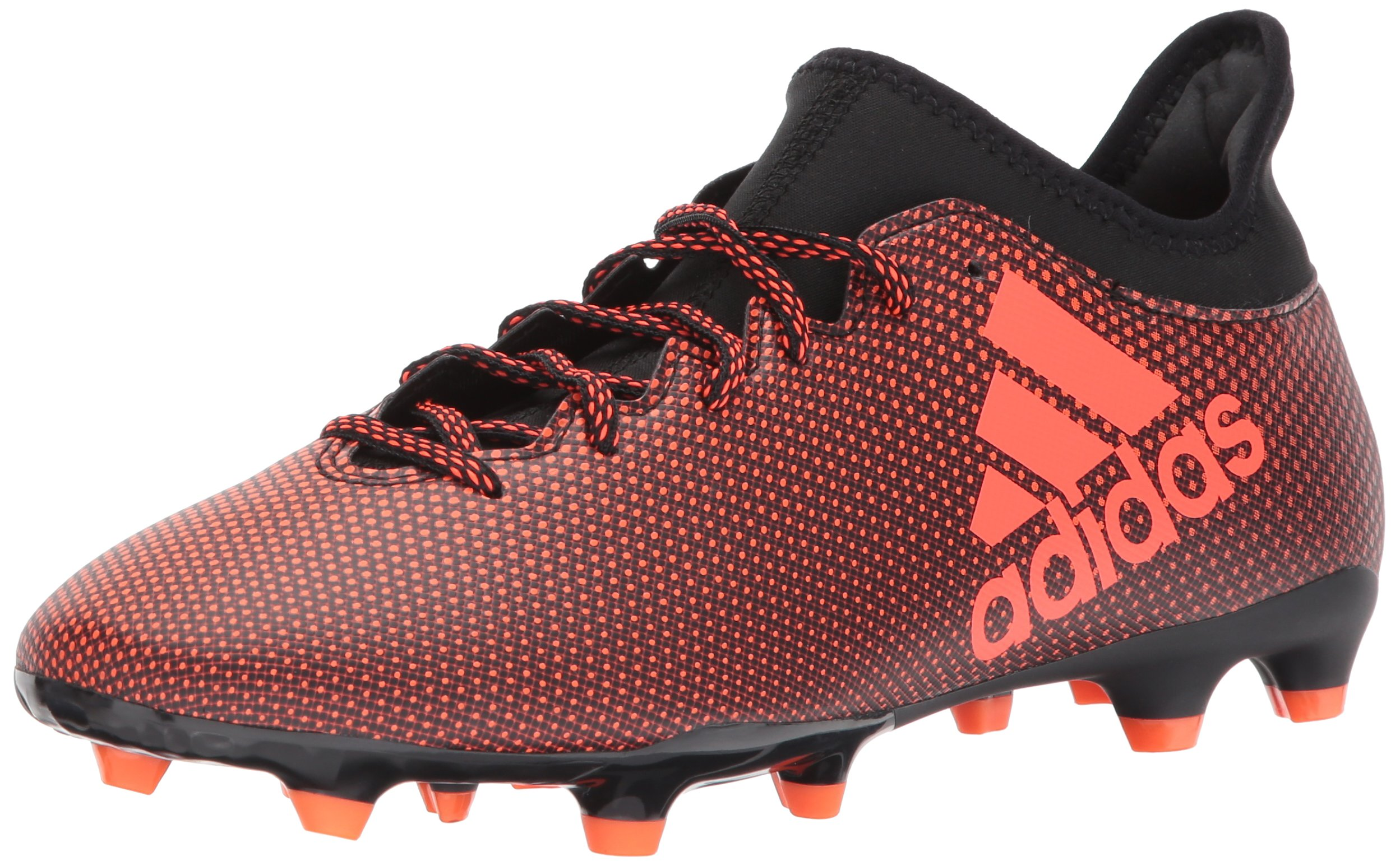 adidas Men's X 17.3 FG Soccer Shoe, Black/Solar Red/Solar Orange, 11 Medium US