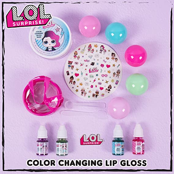 NEW LOL Surprise Color Change Lip Gloss Kit Cotton Candy and Sweet Orange