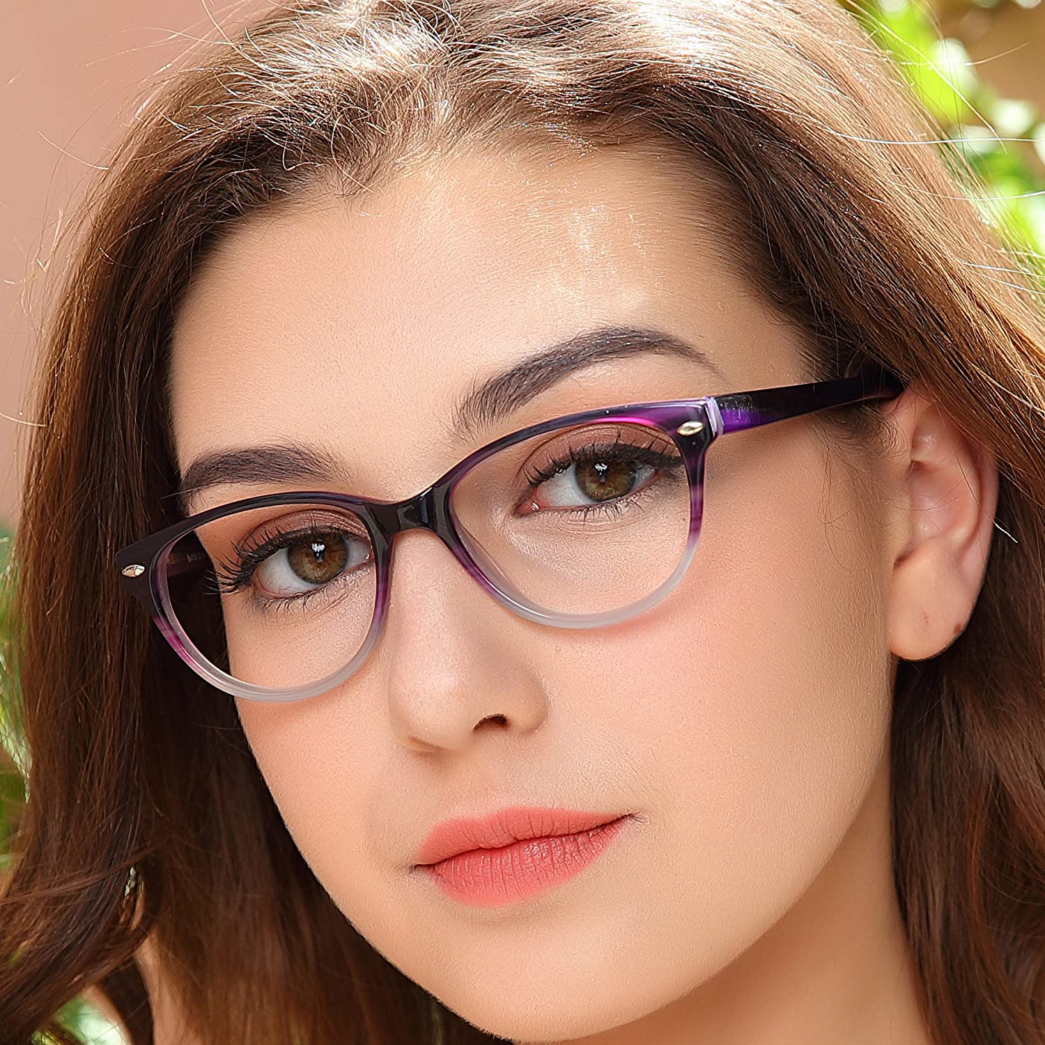 015a72219 OCCI CHIARI Optical Glasses Frame Womens Rectangle Stylish Eyewear Frame Non -Prescription Clear Eyeglasses 55
