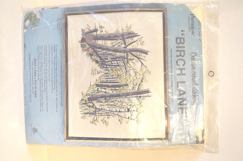 Paragon Needlecraft Birch Lane Tree Picture - Crewel Stitchery Kit 0526