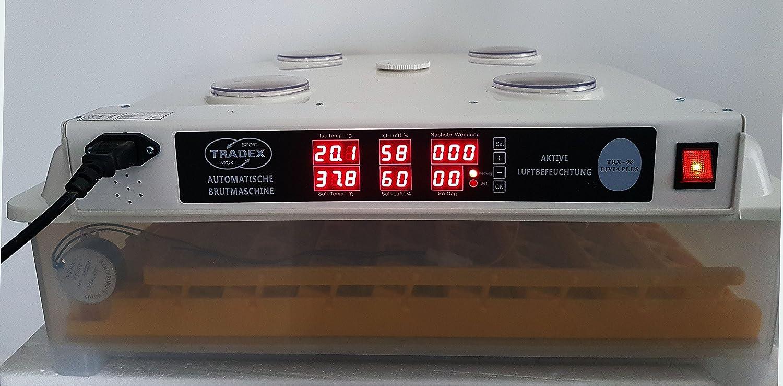 Máquina Incubadora totalmente automática, 98 Huevos, activa humidificación de aire
