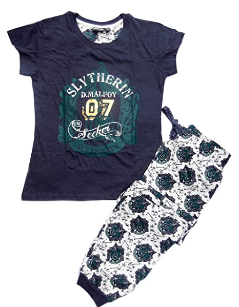 Love to Lounge Harry Potter Slytherin de Pijama o Gryffindor T Camisa y pantalón. Green