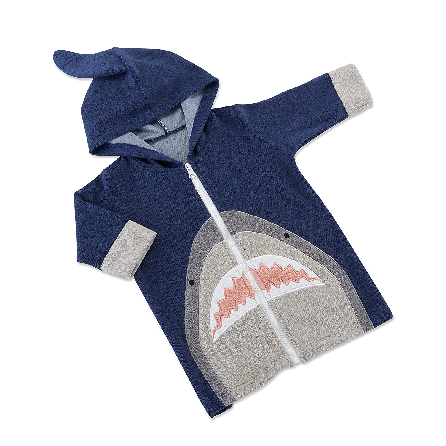 Baby Aspen Shark Hooded Beach Zip Up BA14079BL