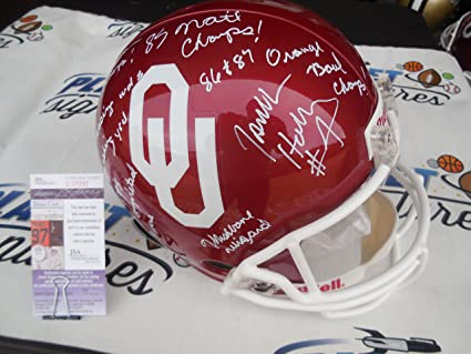 9d863db62 Image Unavailable. Image not available for. Color  Jamelle Holieway signed  Oklahoma OU Sooners full size helmet ...