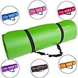 Rutschfeste Yogamatte von KG | PHYSIO - 12 mm dicke Premium-Fitnessmatte fürs Fitnessstudio, Pilates oder zuhause mit Schultertragegurt (auf der Innenseite der Matte)