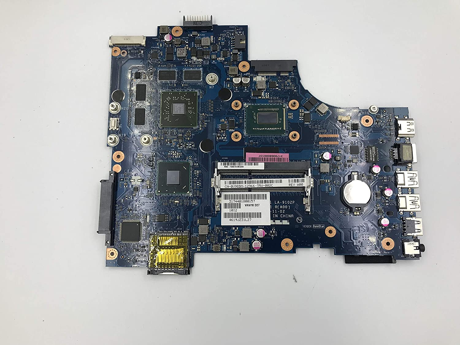 Lysee Laptop Motherboard - for dell Inspiron 17R-5721 3721 5721 LA-9102P CN-0V98DM 0V98DM V98DM laptop motherboard with SR0XG I7-3537U HD 8700M 100% work